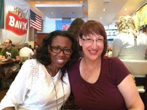 Mary Cortina & I - having brunch in DC (July, 2014)